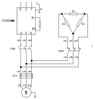 利用变频器的运行状态输出点将变频器与永磁同步电机